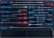 Набор отверток, съемник клипс и гибкий магнит, ложемент, 19 предметов KING TONY 9-31919MR