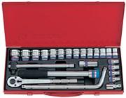 """Набор торцевых головок с принадлежностями 1/2"""", шестигранные, 10-32 мм, 24 предмета KING TONY 4533MR"""