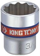 "Головка торцевая стандартная двенадцатигранная 3/8"", 1/4"", дюймовая KING TONY 333008S"