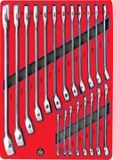 Набор комбинированных ключей, ложемент, 20 предметов МАСТАК 5-21120