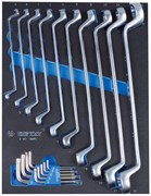Набор накидных ключей и TORX L-образных, ложемент, 19 предметов KING TONY 9-90119MRV