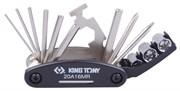Набор инструментов для ремонта велосипедов, 16 предметов KING TONY 20A16MR
