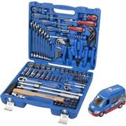 Набор инструментов универсальный, 110 предметов, в комплекте машинка KING TONY P7010MR