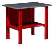 Верстак слесарный, бестумбовый, оцинкованная столешница, красный  FERRUM 01.001G-3000