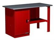 Верстак слесарный, однотумбовый, оцинкованная столешница, красный  FERRUM 01.100G-3000