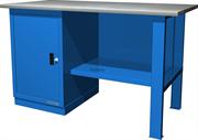 Верстак слесарный, однотумбовый, оцинкованная столешница, синий  FERRUM 01.100G-5015