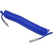 Шланг пневматический спиральный высокого давления 8х12 мм, 10 м, полиуретановый, фитинги МАСТАК 680-08110SQ