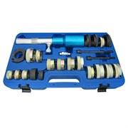 Набор оправок для монтажа и демонтажа сайлентблоков MB, гидравлический, кейс, 24 предмета МАСТАК 110-22024C