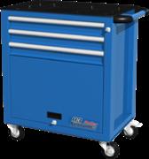 Тележка инструментальная, 3 ящика и отсек, синяя FERRUM 02.113R-5015