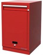 Тумба верстачная с дверцей и ящиком, красная FERRUM 01.411-3000