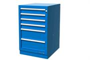 Тумба верстачная с 4 ящиками, синяя FERRUM 01.404R-5015