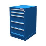 Тумба верстачная с 5 ящиками, синяя FERRUM 01.405R-5015