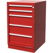 Тумба верстачная с 5 ящиками, красная FERRUM 01.405R-3000
