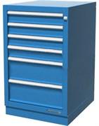 Тумба верстачная с 6 ящиками, синяя FERRUM 01.406R-5015