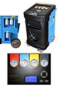 Установка для обслуживания кондиционеров, супер автомат с весами для масла и УФ добавки