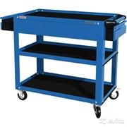 Тележка открытая, 3 полки и ящик, синяя FERRUM 02.232-5015
