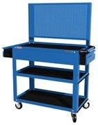 Тележка открытая, 3 полки и ящик, синяя FERRUM 02.232P-5015