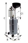 Устройство для ручного слива масла, 80 л (воронка 18 л)