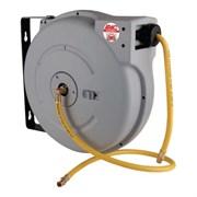 """Катушка закрытая, 10м + 1м, поворотная, для воздуха/воды со шлангом 6х10 PVC, 1/4"""", 12 bar, 60°C"""