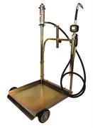 Тележка с пневматическим насосом 5:1 для раздачи масла из бочек 180/220 л (с электронным расходомером)