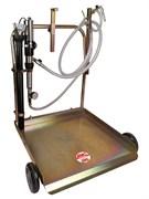 Тележка для сбора масла с пневматическим насосом 3:1, для бочек 180/220 л (6 щупов, 3 коннектора)