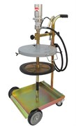 Набор для нагнетания густых смазок пневматический для бочек 25/30 кг (крышка/мембрана 310/310 мм)   Насос пневматический (1787) R = 50:1, для бочек 20/30 кг (стержень 480 мм)