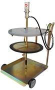 Набор для нагнетания густых смазок пневматический для бочек 180/200 кг (крышка/мембрана 600/585 мм)   Насос пневматический (1789) R = 50:1, для бочек 180/200 кг (стержень 940 мм)