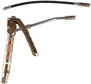 Пистолет для раздачи консистентной смазки в комплекте с жестким и гибким выпускными наконечниками