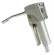 Пистолет для раздачи консистентной смазки с электронным расходомером с жестким выпускными наконечником