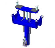 Подъёмник канавный передвижной с интегрированной системой поддержки, привод - ручной (гидравлический),грузоподъёмность 10,0 тн.