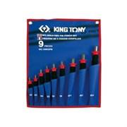 Набор выколоток с протектором, чехол из теторона, 9 предметов KING TONY 1009GPN