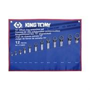Набор накидных ключей, 6-32 мм, чехол из теторона, 12 предметов KING TONY 1712MRN