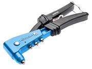 HOEGERT Заклепочник ручной 250 мм, для стальных и алюминевых заклепок, 2,4 - 4,8 мм