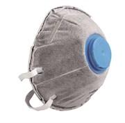 HOEGERT Противопылевая полумаска с одним клапаном FFP2, 3 шт.