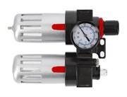 "HOEGERT Фильтр-регулятор с манометром и лубрикатор пневматический 1/4"",  90см?/60см?, 9 бар/135 PSI"