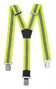 HOEGERT Желтые светоотражающие подтяжки, yниверсальная (120cm ) длина, 4cm ширина )