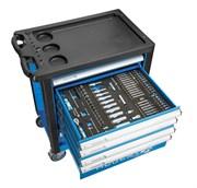 Инструментальный шкаф c 214 элементами