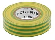 HOEGERT Изоляционная лента желто-зеленая PVC