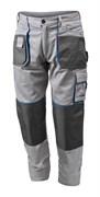 HOEGERT Рабочие брюки серые, размер XXL