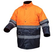 HOEGERT Куртка утепленная, светоотражающая, размер 2XL (оранжевая)