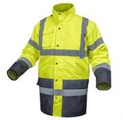 HOEGERT  Куртка утепленная, светоотражающая  3 в 1, размер 2XL  (желтая)