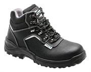 HOEGERT Ботинки рабочие кожаные, металл, защита от прокола, размер 42