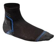HOEGERT Короткие носки черный-графита-синий 39/40