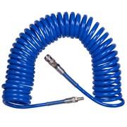 KING TONY Шланг пневматический спиральный высокого давления 8х12 мм, 15 м, полиуретановый, фитинги
