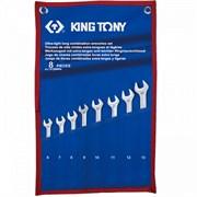 KING TONY Набор комбинированных удлиненных ключей, 6-13 мм, чехол из теторона, 8 предметов