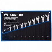 KING TONY Набор комбинированных ключей, 6-24 мм, чехол из теторона, 13 предметов