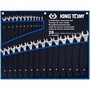 KING TONY Набор комбинированных ключей, 6-32 мм, чехол из теторона, 26 предметов